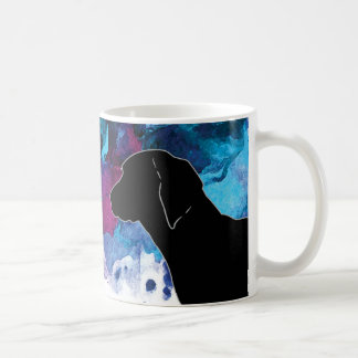 Caneca De Café Azul da aguarela do Coonhound de Redbone