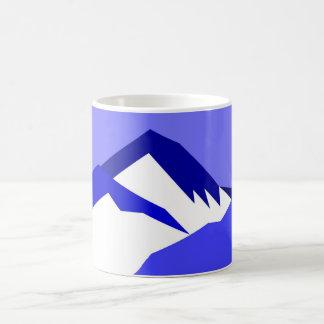 Caneca De Café Azul de Everest - seleção da galeria de arte