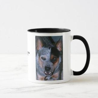 Caneca de café azul de Heeler