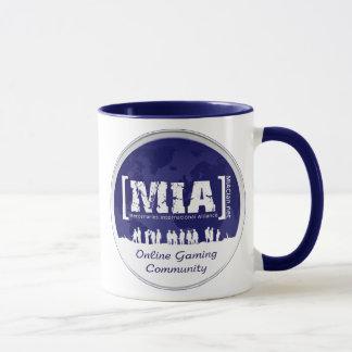 Caneca de café azul de MIA