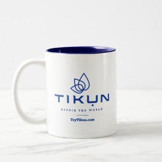 Caneca de café azul de Tikun
