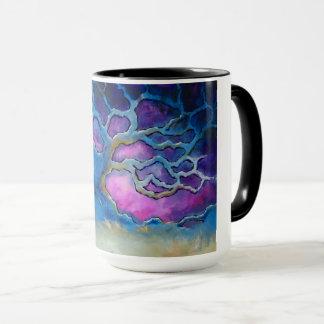 Caneca de café azul do carvalho