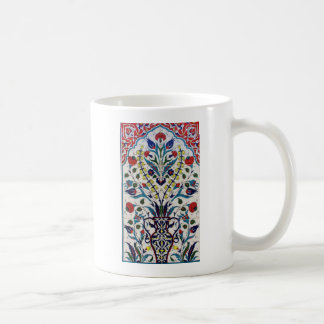 Caneca De Café Azulejos islâmicos tradicionais do design floral