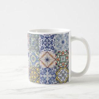Caneca De Café Azulejos patchwork