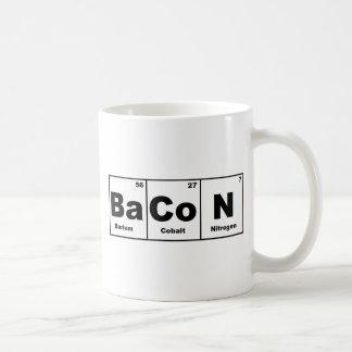 Caneca De Café Bacon da mesa periódica