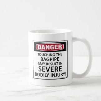 Caneca De Café Bagpipe do perigo