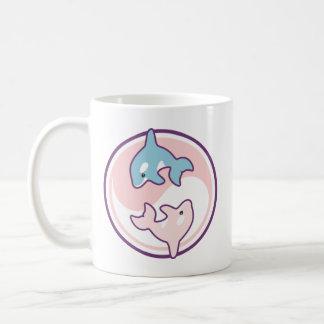 Caneca De Café Baleia bonito Yin Yang da orca