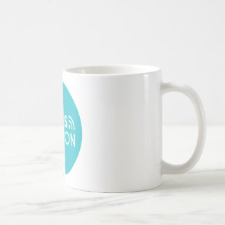 Caneca De Café Baliza das vendas - logotipo - cerceta grande