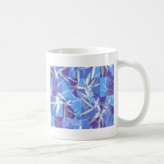 Caneca De Café Bambu no teste padrão geométrico azul