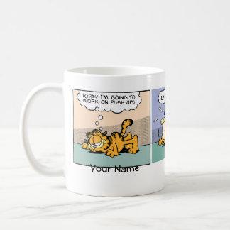 "Caneca De Café Banda desenhada de ""Impulso-UPS"" Garfield"