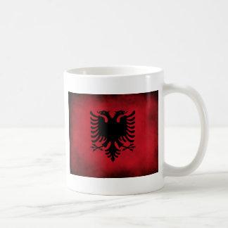 Caneca De Café Bandeira albanesa do Grunge [de alta qualidade]