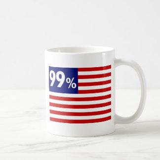 Caneca De Café Bandeira americana de 99% - ocupe Wall Street