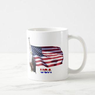 Caneca De Café Bandeira americana do pai #1