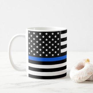 Caneca De Café Bandeira americana fina de Blue Line