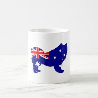 Caneca De Café Bandeira australiana - Samoyed