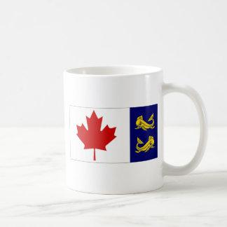 Caneca De Café Bandeira da guarda costeira de Canadá