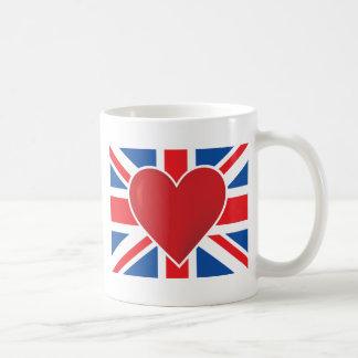 Caneca De Café Bandeira de Ingleses do coração