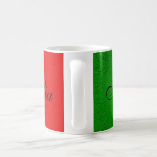 Caneca De Café Bandeira de Italia. eu amo Italia