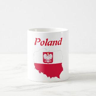 Caneca De Café Bandeira de país polonesa