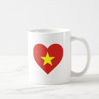 Caneca De Café Bandeira de Vietnam - vàng do sao do đỏ do amor