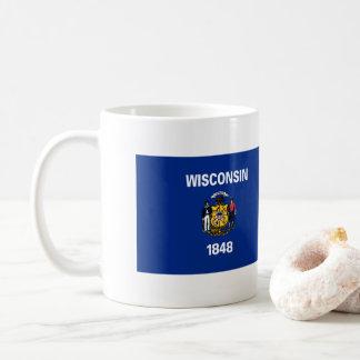 Caneca De Café Bandeira de Wisconsin
