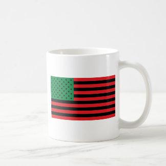 Caneca De Café Bandeira do afro-americano - preto e verde