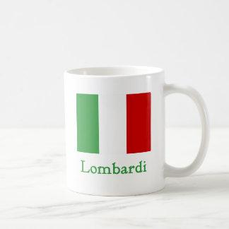 Caneca De Café Bandeira do italiano de Lombardi