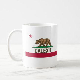 Caneca De Café Bandeira do urso de CALEXIT Califórnia