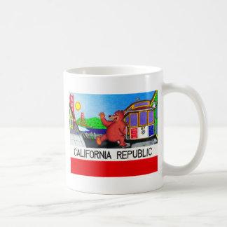 Caneca De Café Bandeira do urso de San Francisco Califórnia