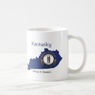Caneca De Café Bandeira e mapa de Kentucky