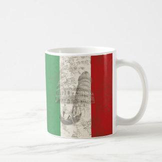 Caneca De Café Bandeira e símbolos de Italia ID157