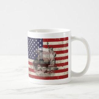 Caneca De Café Bandeira e símbolos dos Estados Unidos ID155