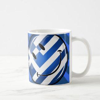 Caneca De Café Bandeira grega de sorriso
