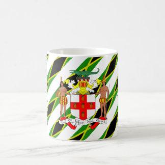 Caneca De Café Bandeira jamaicana das listras