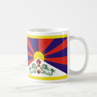 Caneca De Café Bandeira livre de Tibet - ་ do བཙན do ་ do རང do ་