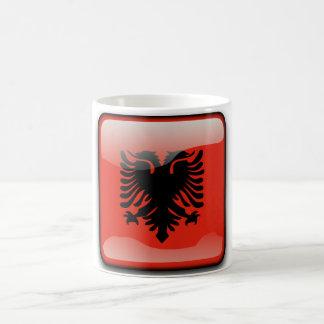 Caneca De Café Bandeira lustrosa albanesa