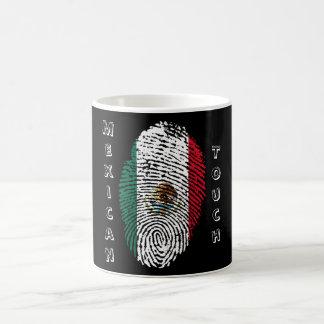 Caneca De Café bandeira mexicana da impressão digital do toque