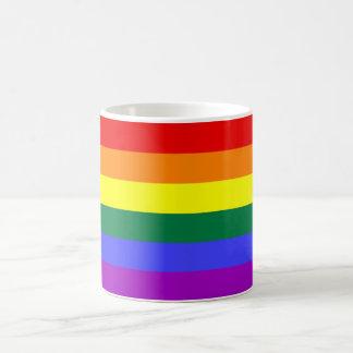 Caneca De Café Bandeira Mog do arco-íris