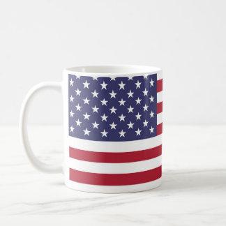 """Caneca De Café """"Bandeira nacional dos Estados Unidos da América"""