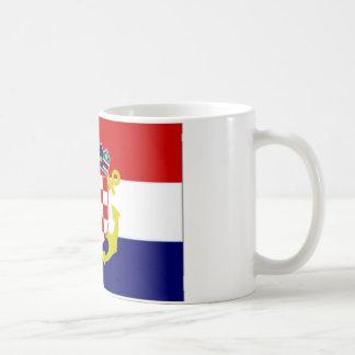 Caneca De Café Bandeira naval da bandeira de Croatia