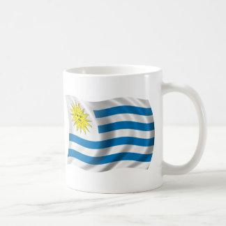 Caneca De Café Bandeira ondulada de Uruguai