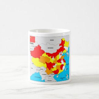 Caneca De Café bandeira política do mapa do país da porcelana