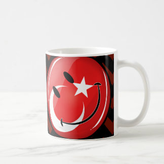 Caneca De Café Bandeira turca de sorriso