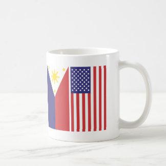 Caneca De Café Bandeiras do PI e dos E.U.