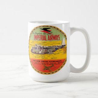 Caneca De Café Barco de vôo imperial da tosquiadeira das vias