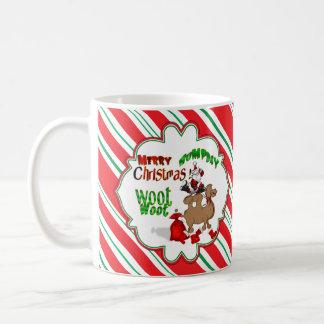Caneca De Café Bastão de doces alegre Woot do Natal do camelo do