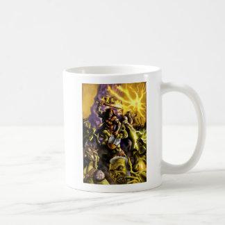 Caneca De Café Batalha dos caráteres da fantasia dos guerreiros e