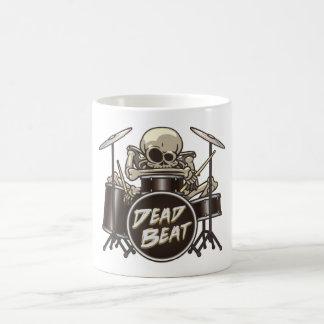 Caneca De Café Baterista de esqueleto engraçado