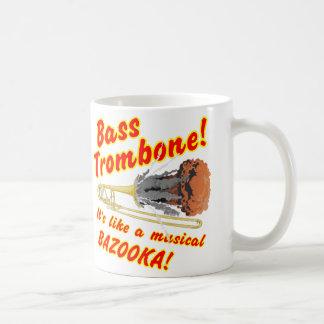 Caneca De Café Bazooka baixo do Musical do Trombone