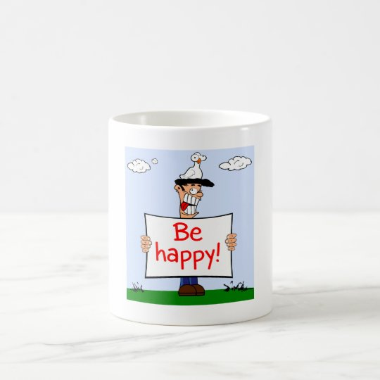 Caneca De Café Be happy!